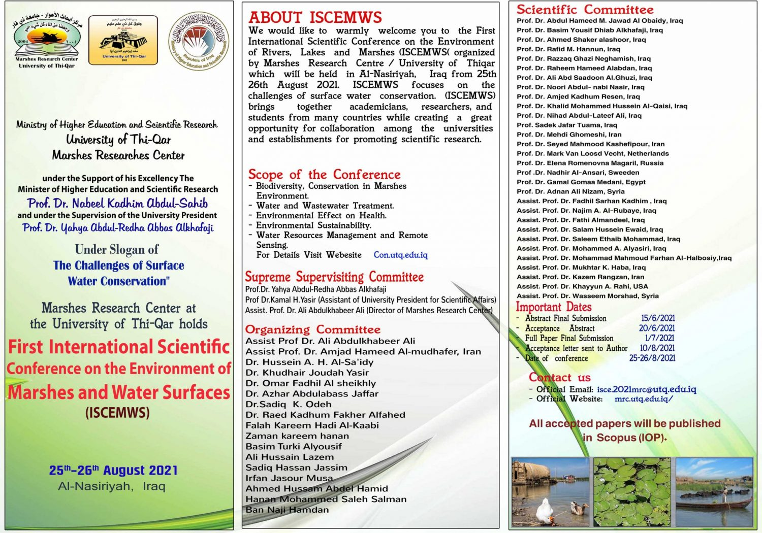 Brochure of the Conference